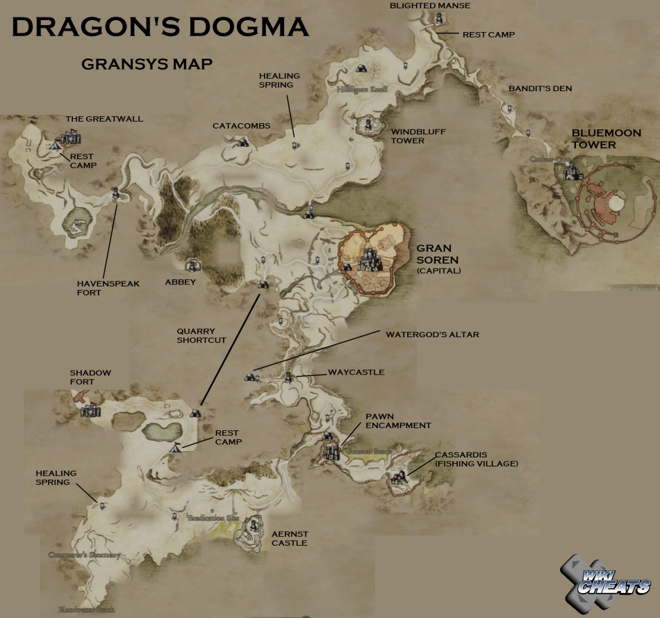 Complete Locations Map - Dragon's Dogma Message Board for ... on dark souls map, hyrule warriors map, among the sleep map, l.a. noire map, divinity ii map, fallout new vegas ultimate edition map, valhalla knights 3 map, bound by flame map, lords of the fallen map, medieval total war viking invasion map, skyrim throat of the world map, metal gear solid v: the phantom pain map, fallout 3 map, crimson alliance map, dragon's den map, dragon ball raging blast map, dragon age: inquisition map, conker's bad fur day map, the elder scrolls v: skyrim map, tales of zestiria map,