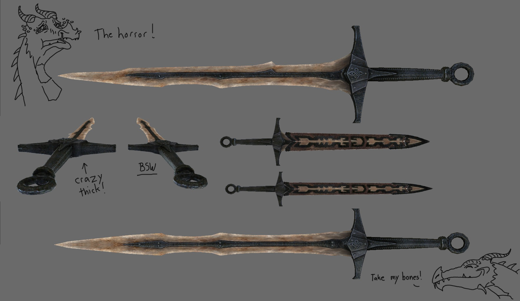 Images Of Dragonbone Weapons In Skyrim Rock Cafe